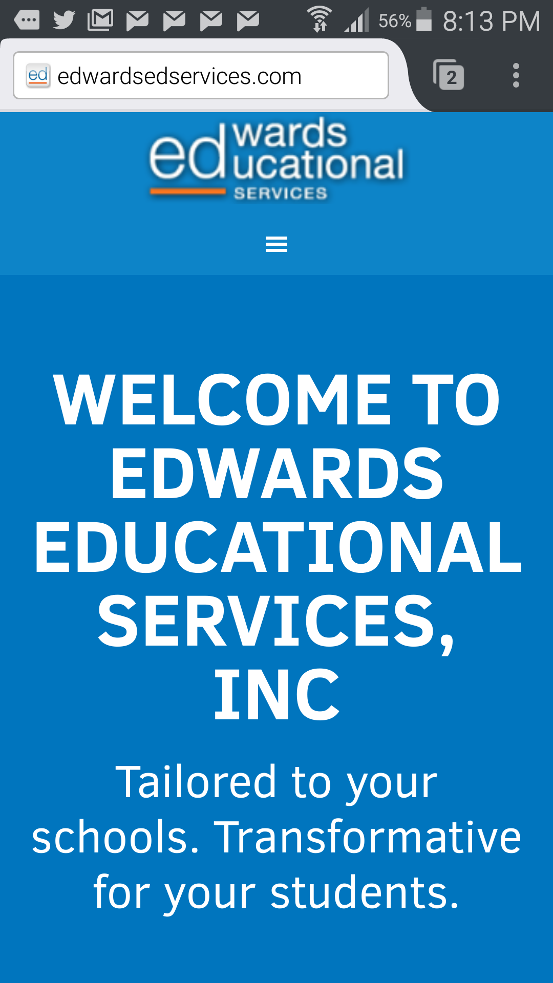 Education mobile site